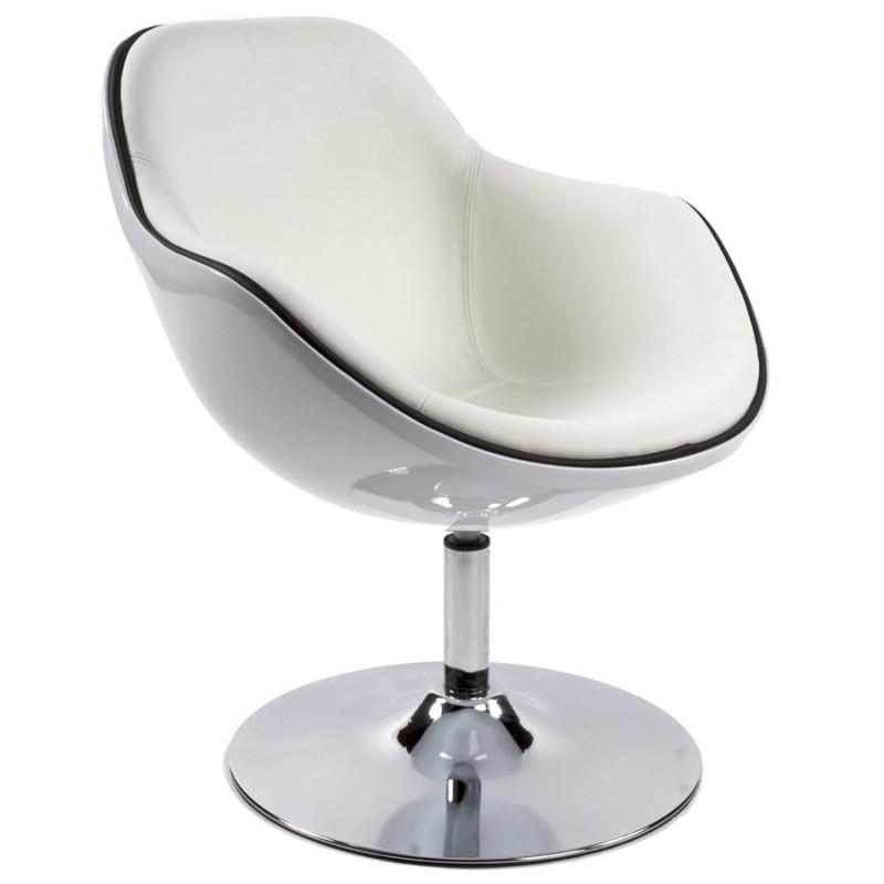 Fauteuil design RHONE rotatif (blanc)