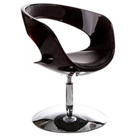 Fauteuil design RHIN en ABS (polymère à haute résistance) (noir)