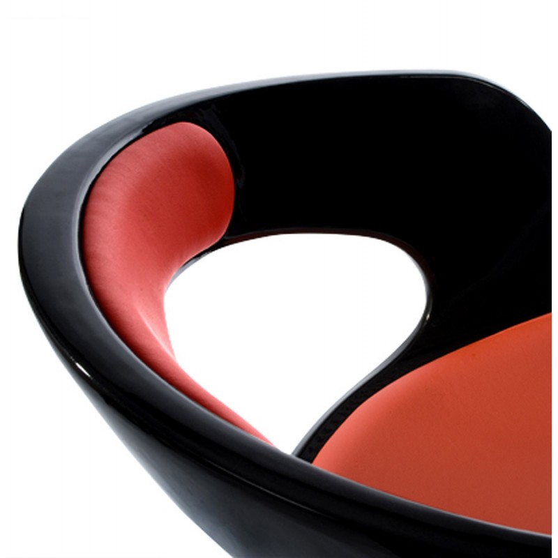 Fauteuil design RHIN en ABS (polymère à haute résistance) (noir et rouge) - image 18325