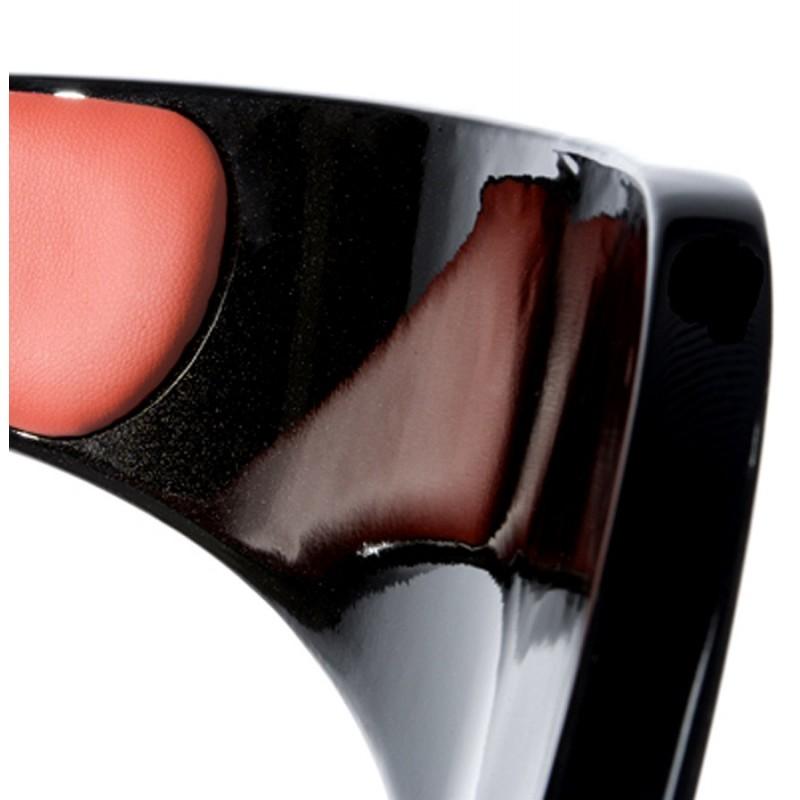Fauteuil design RHIN en ABS (polymère à haute résistance) (noir et rouge) - image 18326