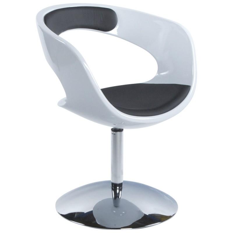 Fauteuil design RHIN en ABS (polymère à haute résistance) (noir et blanc) - image 18328