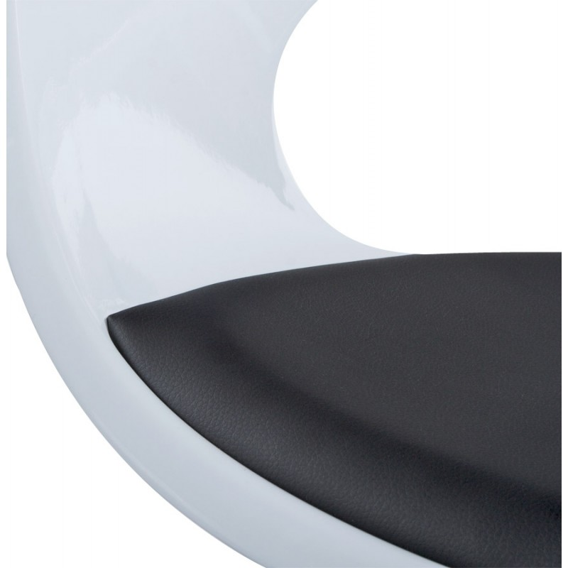 Fauteuil design RHIN en ABS (polymère à haute résistance) (noir et blanc) - image 18333