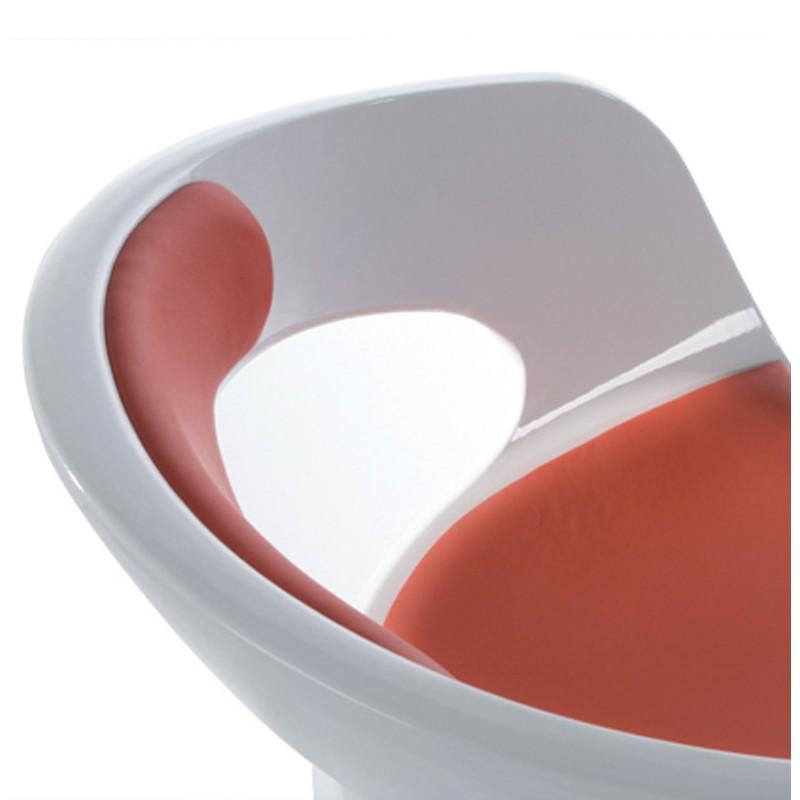 Fauteuil design RHIN en ABS (polymère à haute résistance) (blanc et rouge) - image 18340