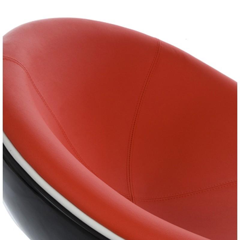 Fauteuil design rotatif GAROE en polyuréthane (noir et rouge) - image 18355