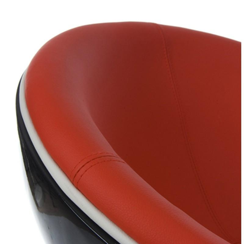 Fauteuil design rotatif GAROE en polyuréthane (noir et rouge) - image 18356
