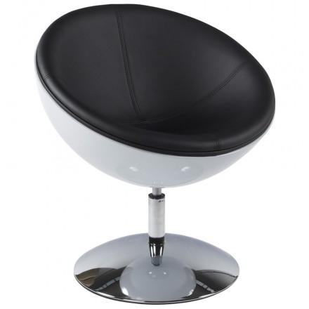 Design Dreh Sessel GAROE in polyurethan (weiß und schwarz)