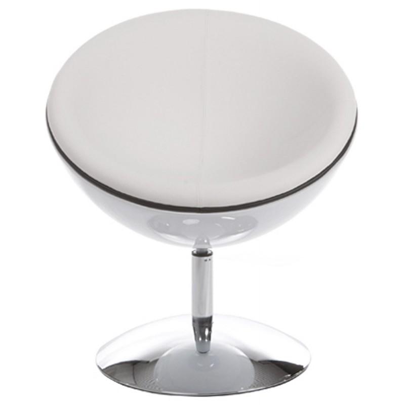 Fauteuil design rotatif GAROE en polyuréthane (blanc) - image 18375
