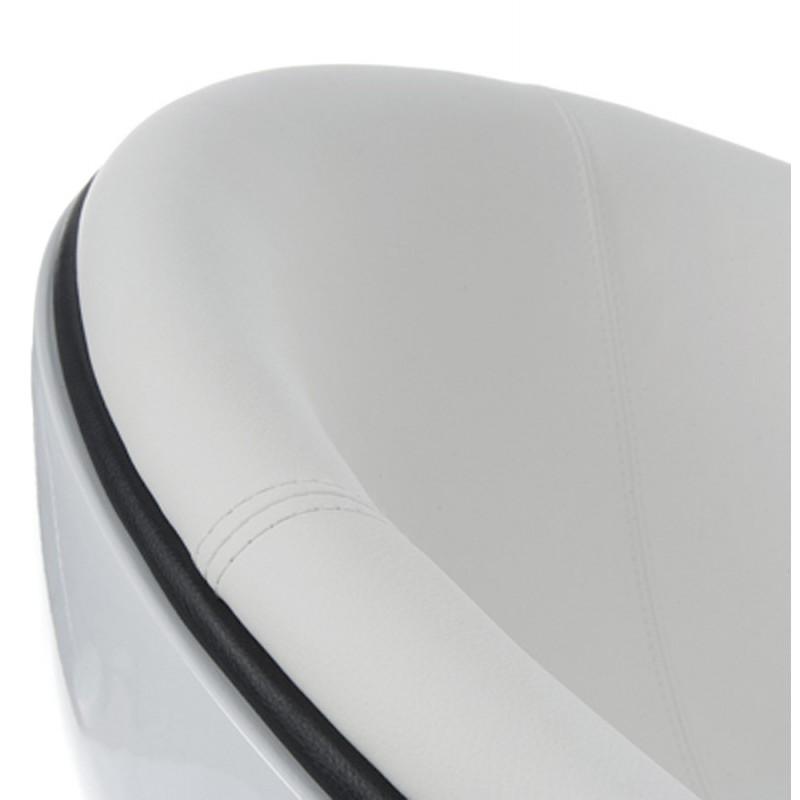 Fauteuil design rotatif GAROE en polyuréthane (blanc) - image 18380