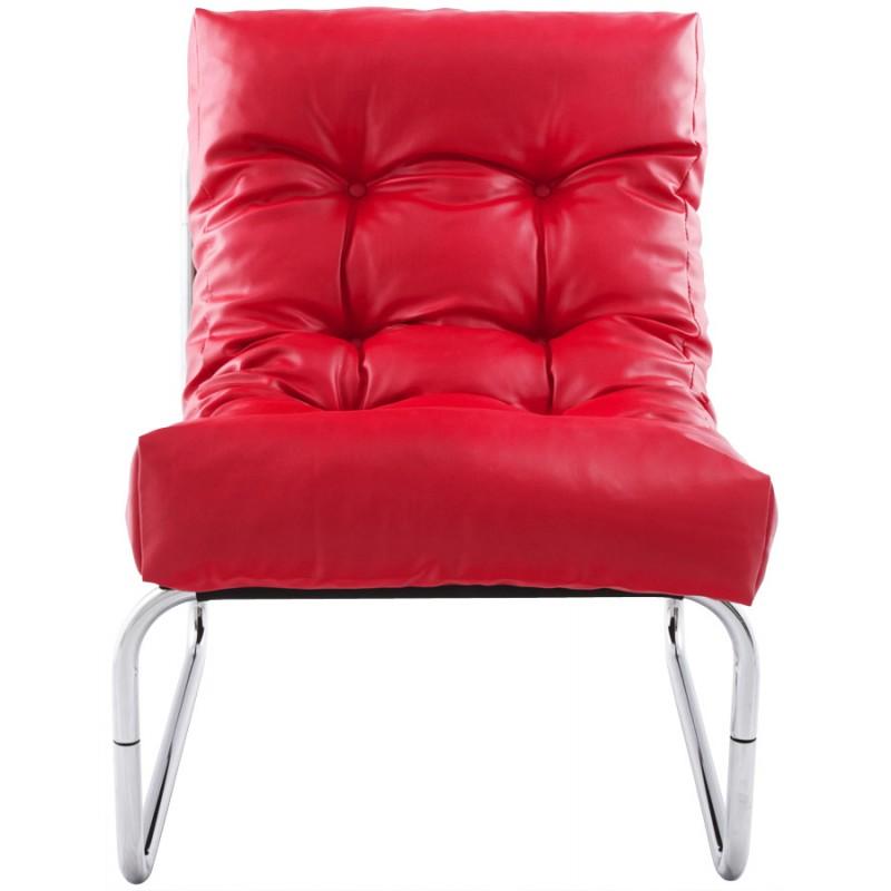 Fauteuil lounge design ISERE en polyuréthane (rouge) - image 18404