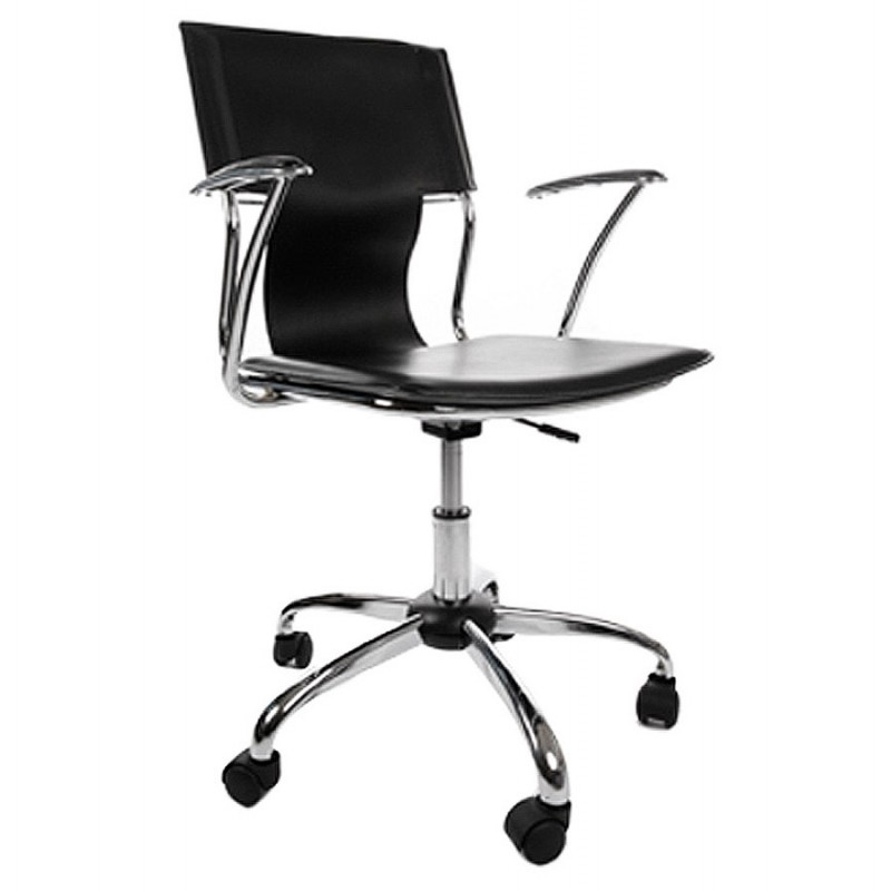 CHIPIE rotary office armchair in polyurethane (black) - image 18420