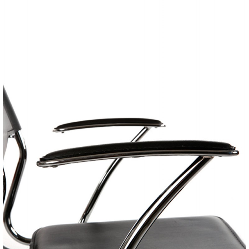 CHIPIE rotary office armchair in polyurethane (black) - image 18426