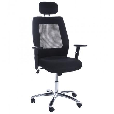 CHOUCAS-Büro in Stoff Sessel (schwarz)