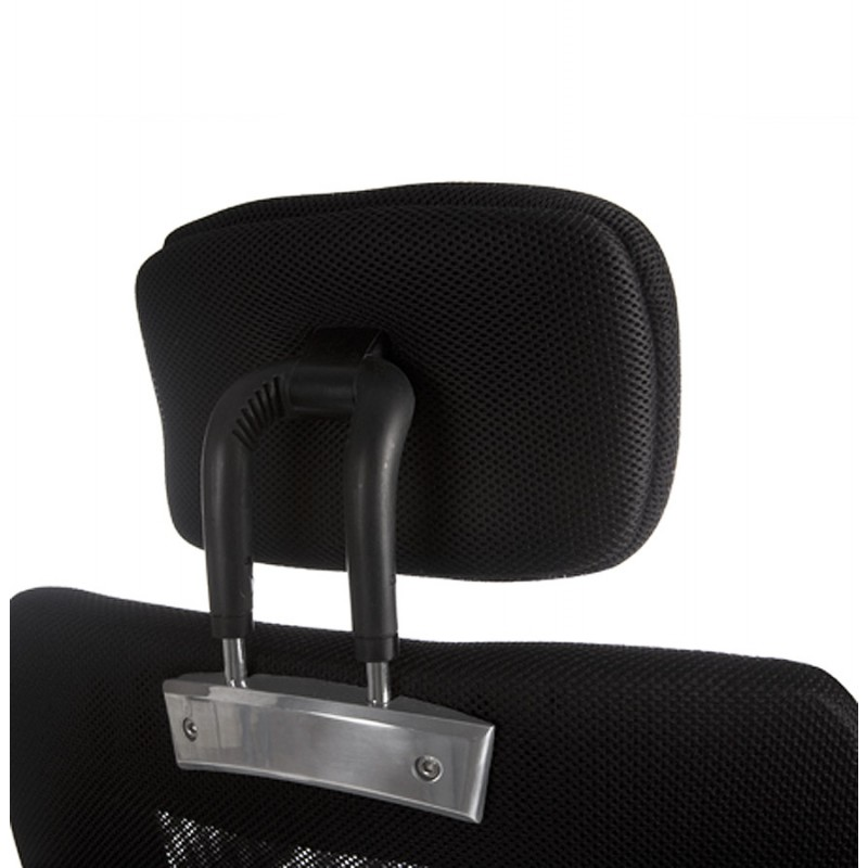 Fauteuil de bureau CHOUCAS en textile (noir) - image 18439