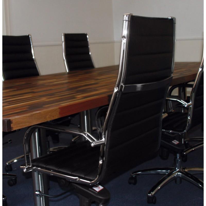Giratoria sillón de oficina de poliuretano COOMBE (negro)