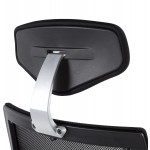 Office armchair CORNUE fabric (black)