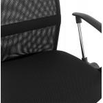 Fauteuil de bureau CORDON (réglable) en textile (noir)