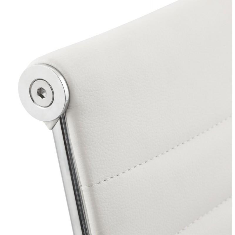Fauteuil de bureau rotatif COURIS en polyuréthane (blanc) - image 18532