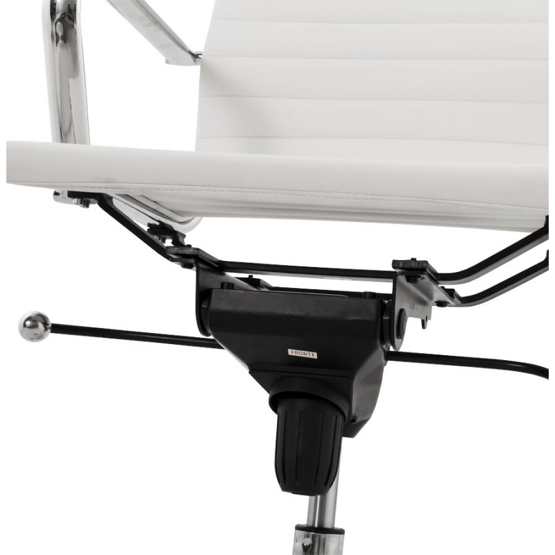 Fauteuil de bureau rotatif COURIS en polyuréthane (blanc) - image 18540