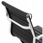 Oficina de sillón COURIS rotatorio en poliuretano (negro)
