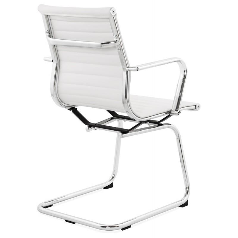 fauteuil de bureau courol en polyur thane blanc. Black Bedroom Furniture Sets. Home Design Ideas