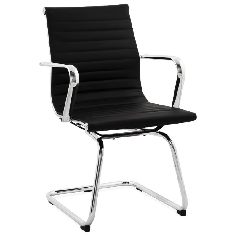 Office armchair COUROL in polyurethane (black)  - image 18584