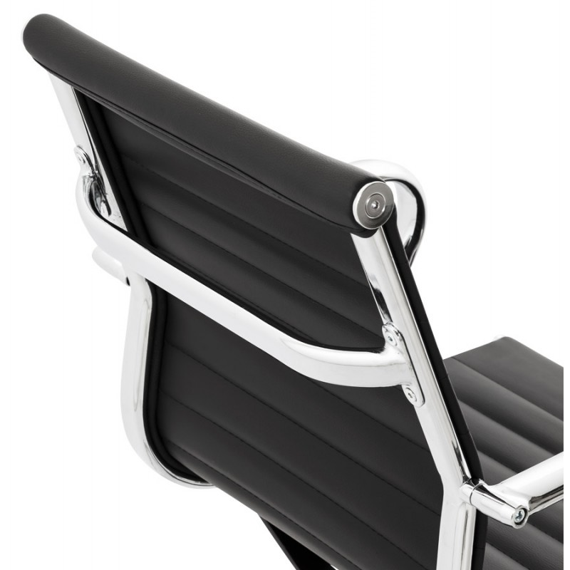 Office armchair COUROL in polyurethane (black)  - image 18593