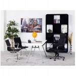 Office armchair COUROL in polyurethane (black)