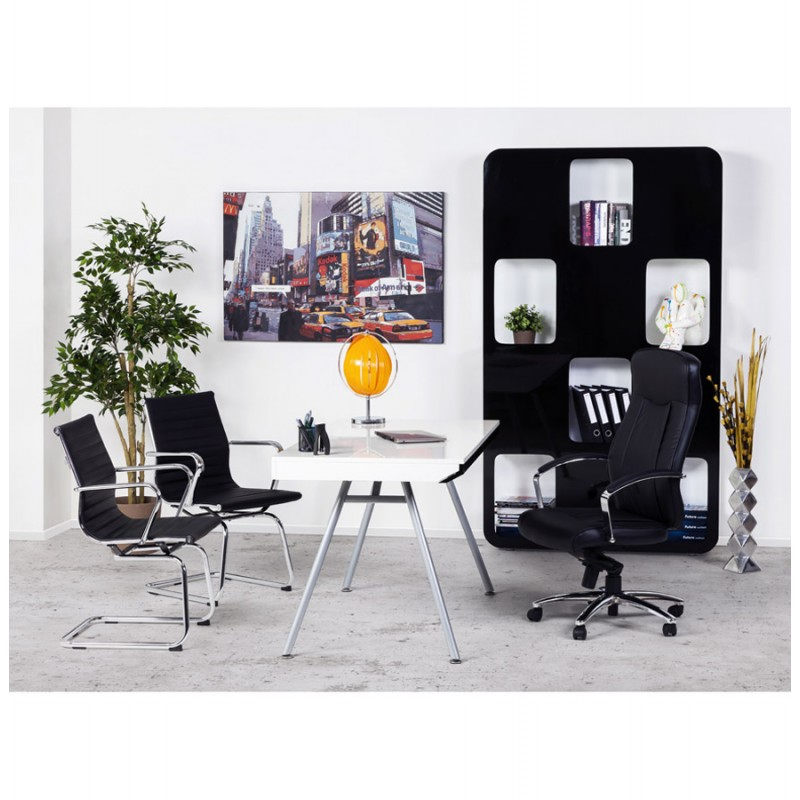 Office armchair COUROL in polyurethane (black)  - image 18600