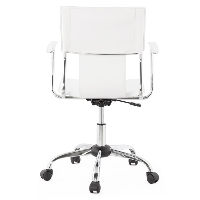 CHIPIE rotary office armchair in polyurethane (white) - image 18638
