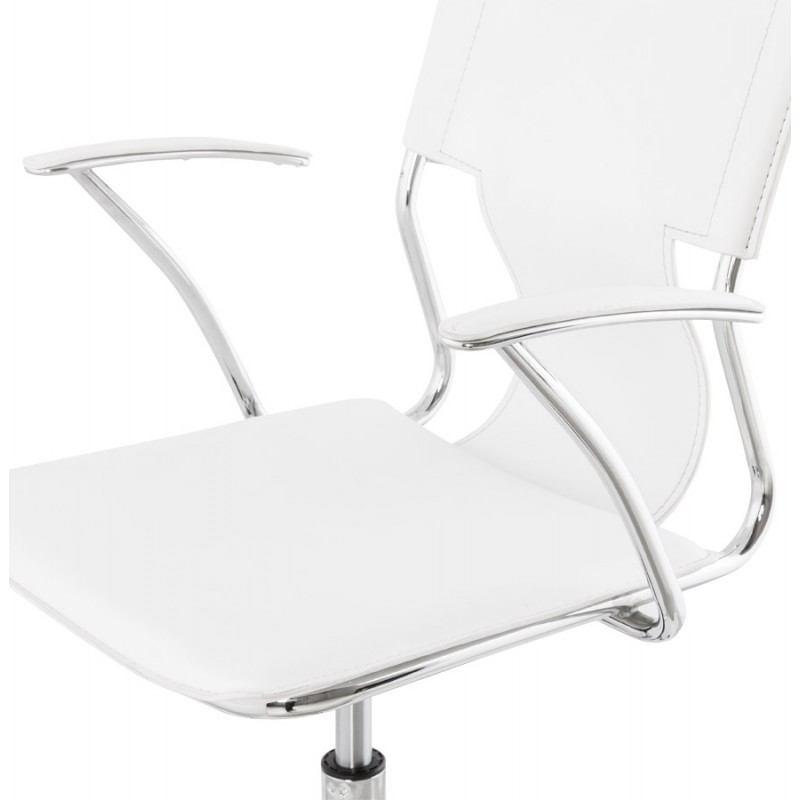 CHIPIE rotary office armchair in polyurethane (white) - image 18641