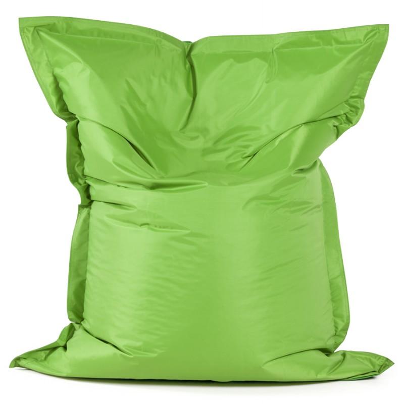 Pouf rectangulaire BUSE en textile (vert) - image 18666