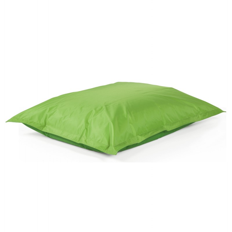 Pouf rectangulaire BUSE en textile (vert) - image 18668