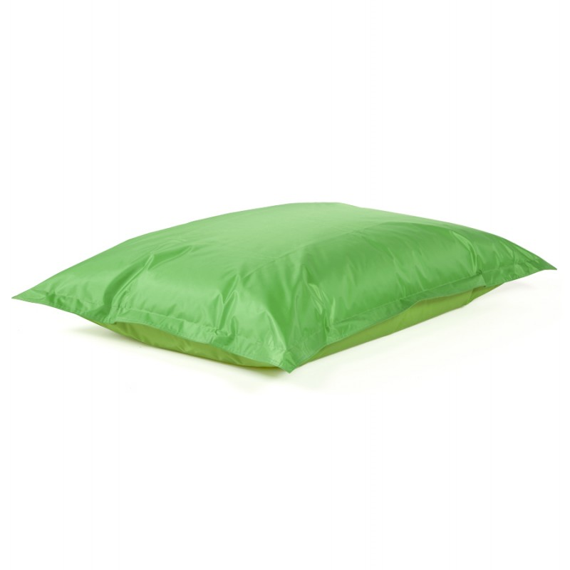 Pouf rectangulaire BUSE en textile (vert) - image 18670
