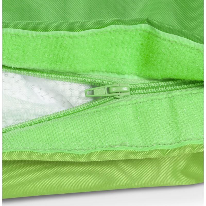 Pouf rectangulaire BUSE en textile (vert) - image 18673