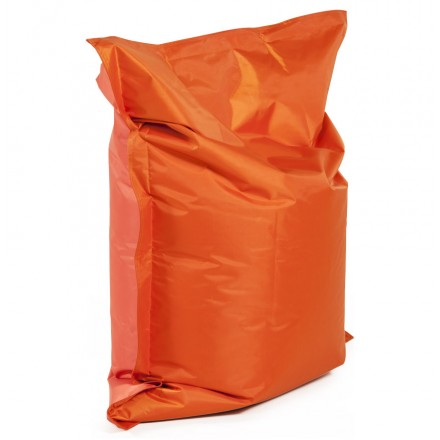 Pouf rectangulaire BUSE en textile (orange)