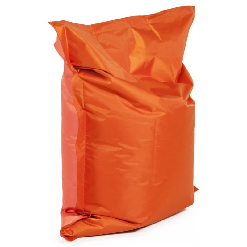 Pouf rectangulaire BUSE en textile (orange) - image 18675