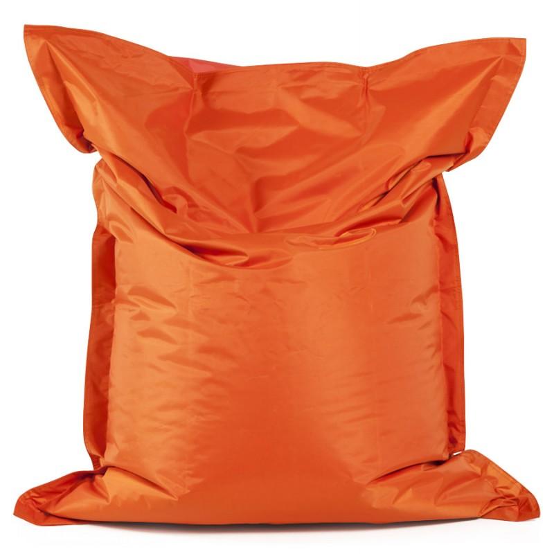 Pouf rectangulaire BUSE en textile (orange) - image 18676