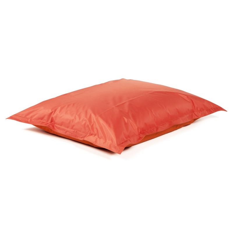 Pouf rectangulaire BUSE en textile (orange) - image 18679