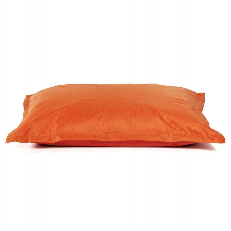 Pouf rectangulaire BUSE en textile (orange) - image 18680
