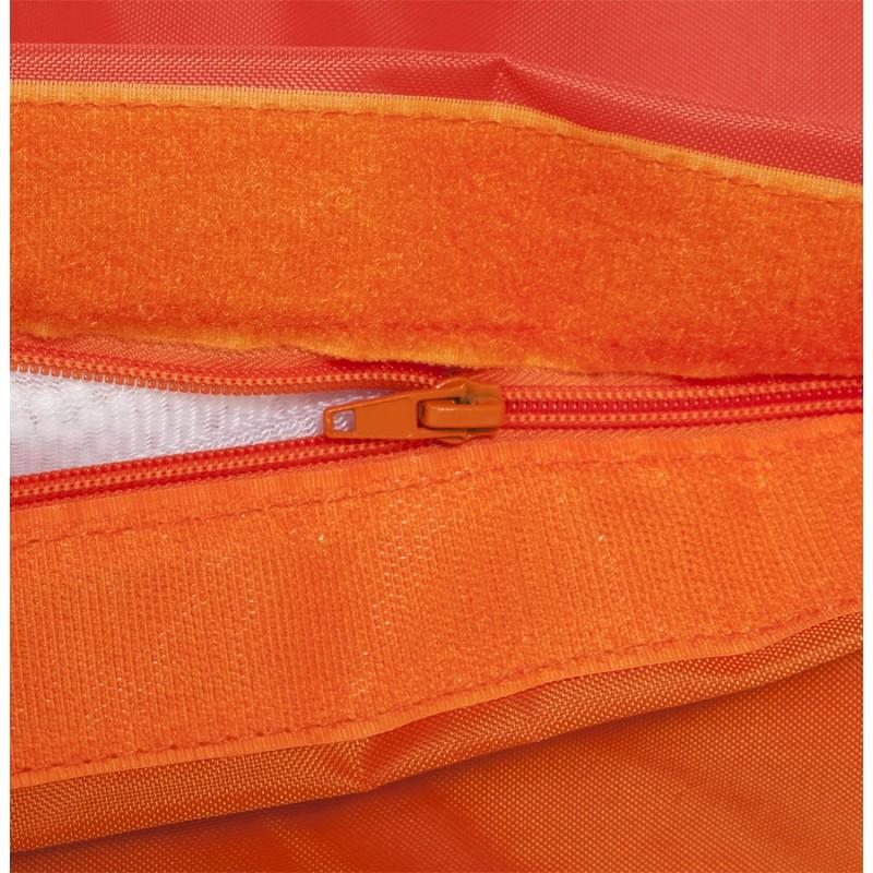 Pouf rectangulaire BUSE en textile (orange) - image 18683