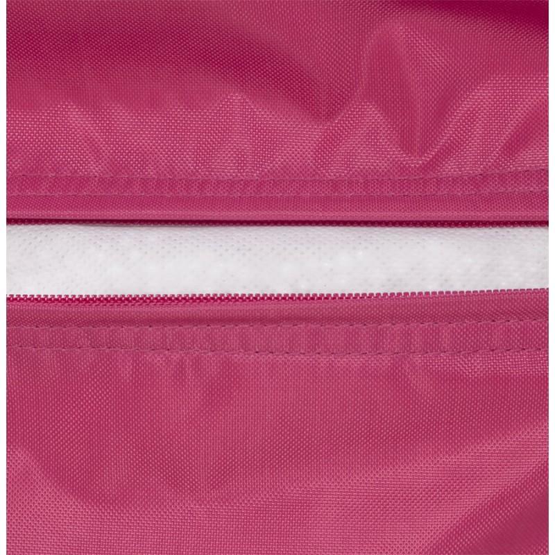 Pouf carré CALANDRE en textile (rose) - image 18692