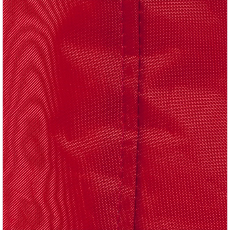 Pouf carré CALANDRE en textile (rouge) - image 18697
