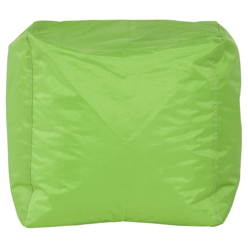Pouf carré CALANDRE en textile (vert) - image 18700