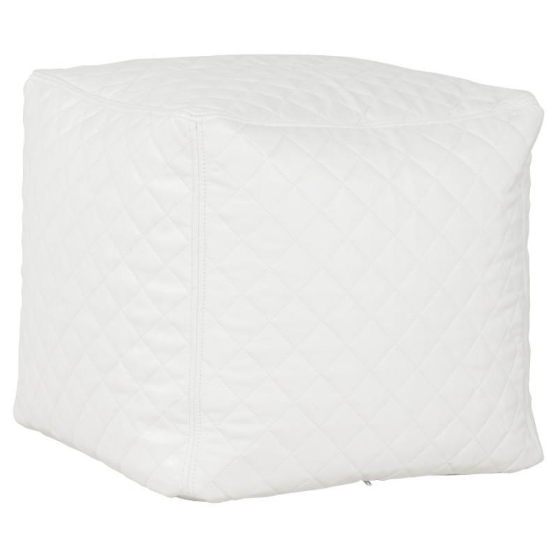 Pouf carré CARIL en polyuréthane (blanc) - image 18707