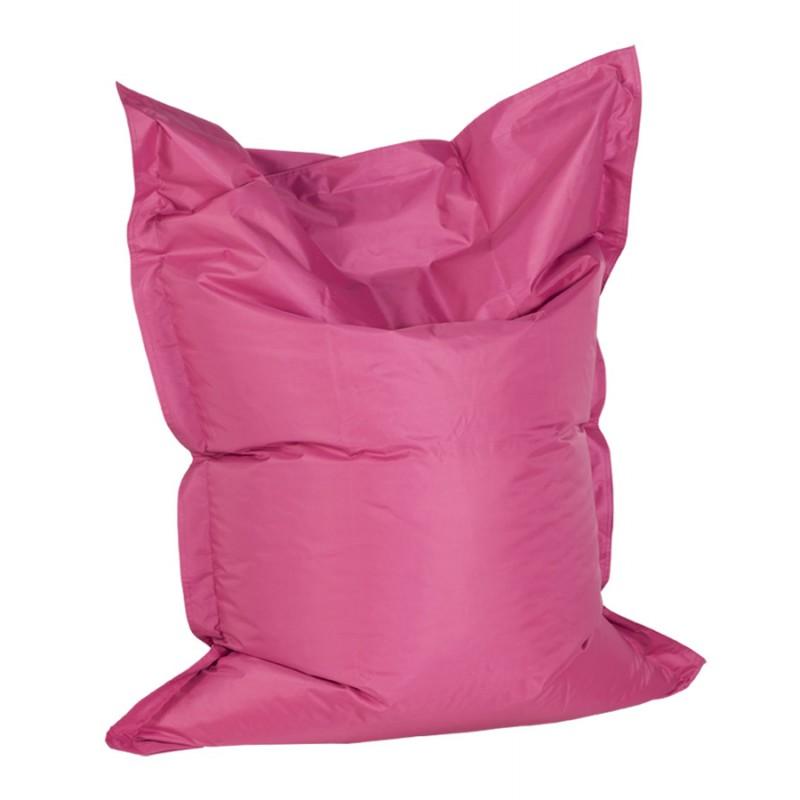 Pouf rectangulaire BUSE en textile (rose) - image 18713