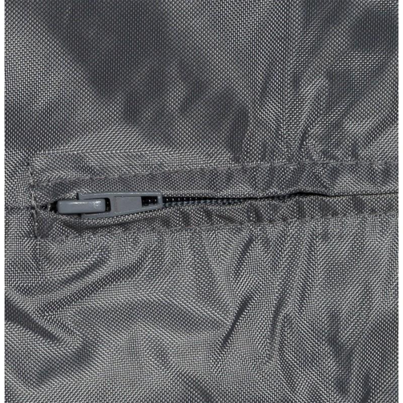Pouf rectangulaire CAMA en textile (gris) - image 18724