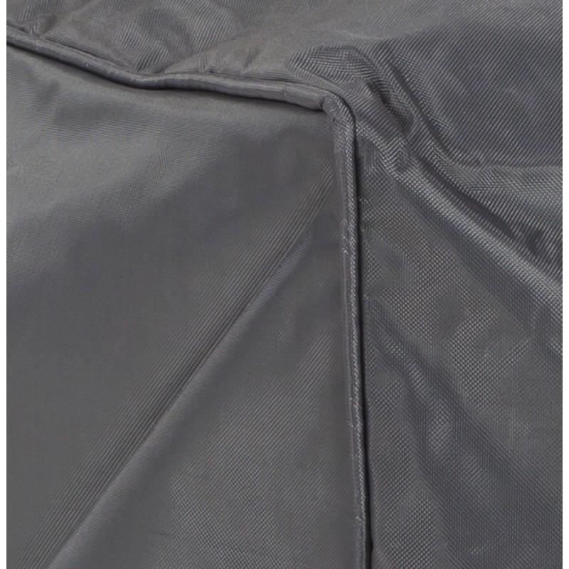 Pouf rectangulaire CAMA en textile (gris) - image 18725