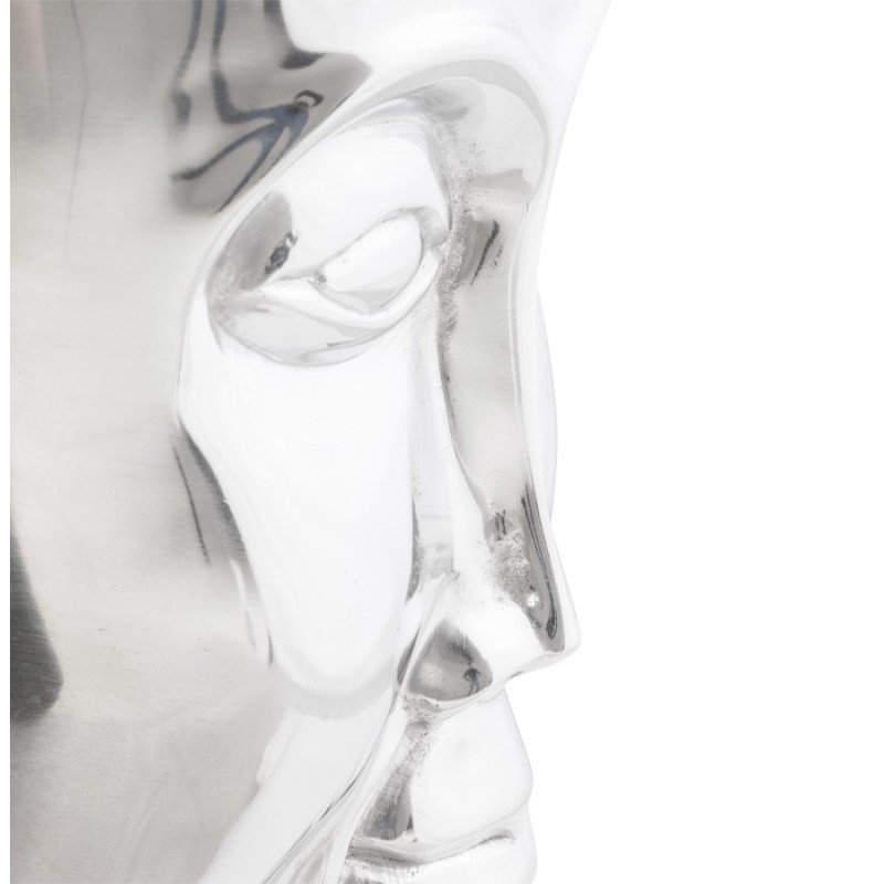 Pouf design NATE en aluminium poli  - image 18737