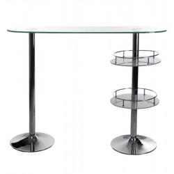 mobili di design bar bora bora vetro e metallo cromato trasparente