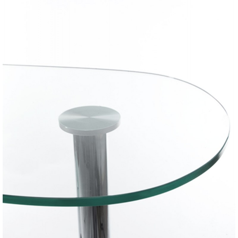 Meuble bar design BORA BORA en verre et métal chromé (transparent) - image 19804